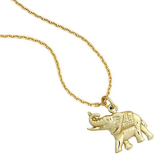JOBO pendentif en or jaune 585 en forme d'éléphant