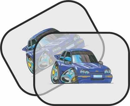 Personalizado Koolart - Ford Fiesta Turbo Car - parasol para el coche