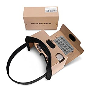 Best Epic Trends 417cgVYmYbL._SS300_ Google Cardboard,Topmaxions 3D VR Virtual Reality DIY VR Headset for 3D Movies and Games Compatible with Android & Apple…