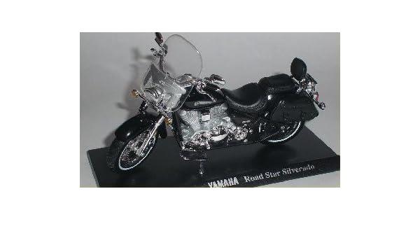 Yamaha Road Star silverado negro escala 1:18 moto modelo de maisto