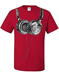 Huge Hanging Headphones T-Shirt DJ Music Tee Shirt