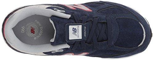 New Balance Boys' 990v4 Sneaker, Blue/Red, 6.5 M US Big Kid by New Balance (Image #8)