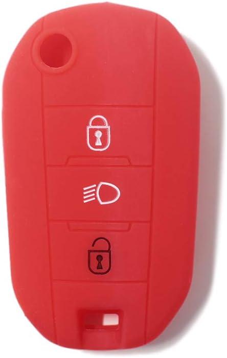 Custodia con chiave in silicone per Citroen C3 C4 C4L C5 C6 per Peugeot 308 207