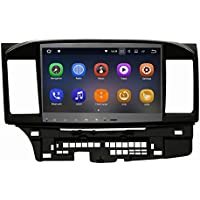 SYGAV Android 7.1.1 Nougat Car Stereo GPS Navigation Radio Head Unit for 2008-2017 Mitsubishi Lancer EVO X without Factory Rockford Fosgate AMP
