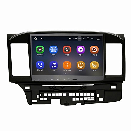 SYGAV Android 7.1.1 Nougat Car Stereo GPS Navigation Radio Head Unit for 2008-2017 Mitsubishi Lancer EVO X without Factory Rockford Fosgate AMP (Lancer Gts)