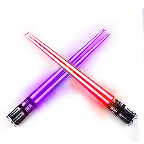 Lightsaber Light Up Chopsticks Led Chopstick, 2-Pairs, Purple & Red by Chopsabers (Image #3)