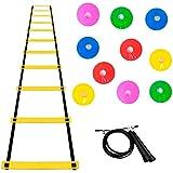 Kit Agilidade Escada Eva +35 Chapeu Chines +corda Crossfit