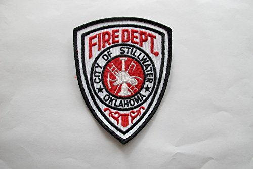 Oklahoma City of Stillwater FIRE DEPT. FIRE Department Embroidery Applique Patch (Embroidery Fire Dept)