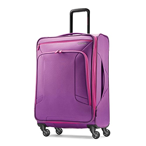American Tourister Checked-Medium, Purple/Pink
