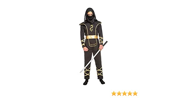 My Other Me Me-204890 Disfraz de ninja para hombre, Color negro, ML (Viving Costumes 204890