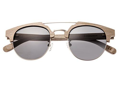 Earth Wood Kai Polarized Cateye Sunglasses, Grey//Black, 47 mm - Sunglasses Kai