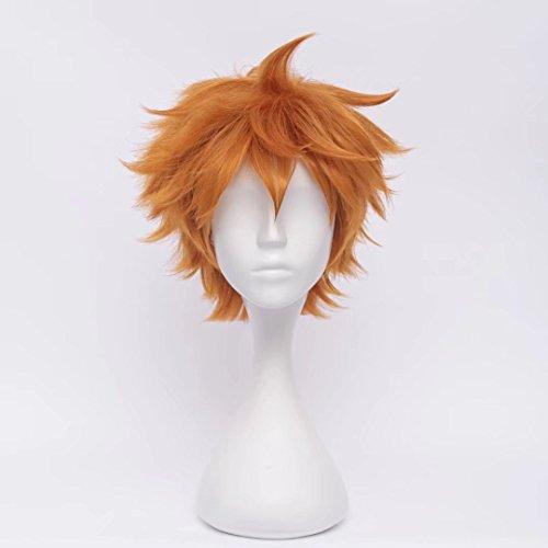 Kadiya Boys Cosplay Wig Full Hair Heat Resistant Black Orange Purple Synthetic Hair
