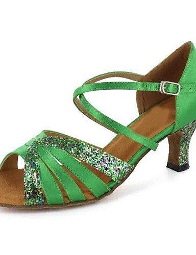 latines avec ShangYi personnalisées sandales couleurs de de des almond de buckie femmes chaussures plus talon danse RqAAUSx