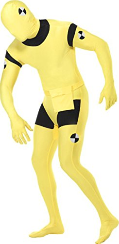 Crash Dummy Second Skin Suit Adult Costume - Large -