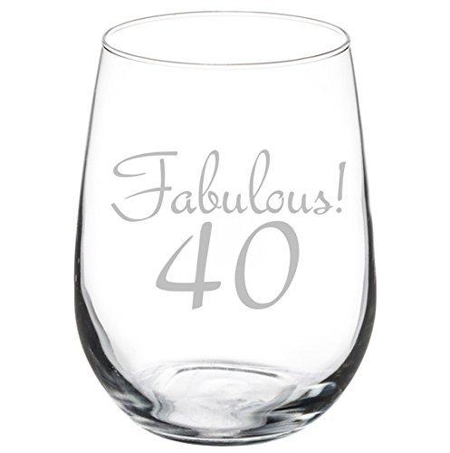 Copa de vino Fabuloso 40 cumpleaños (11 oz sin tallo ...