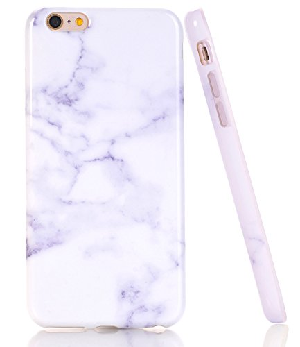 iPhone 6 6s Case, White Marble Creative Design, BAISRKE Slim Flexible Soft...