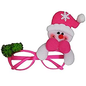 Christmas Decoration Eyeglasses with a Snowman Novelty Glittered Fanci-Frames Party Accessory Eyeglasses