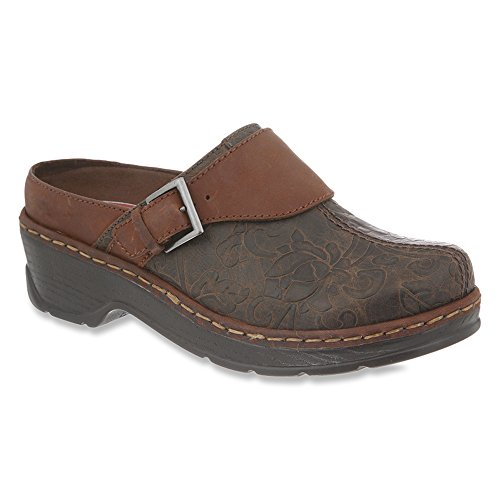 Women's Tool Clog Austin Klogs Flower USA Brown 5npFqwAYSx