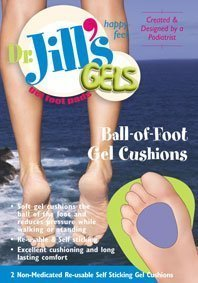 Jills Gel Metatarsal Cushion - Dr. Jill's Gel Ball-of-Foot Cushion (1/8