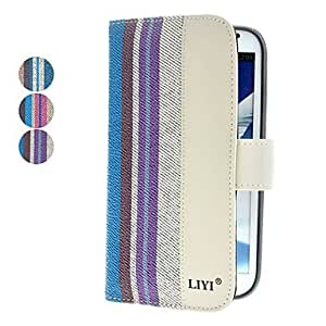 Colorful Striated PU Leather Full Body Case for Galaxy Note 2 N7100 (Assorted Colors) --- COLOR:Rose