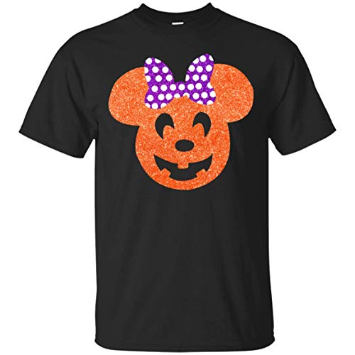Pumpkin Minnie Mouse - Halloween Glitter Shirt - Mickey_s Not So Scary Glitter Shirt -