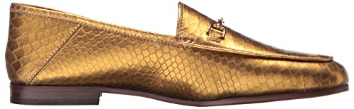 Loriane Gold Flats Sam Loafer Snake Print Leather Edelman Women's fqS7SEw
