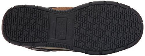 Skechers Travail Hommes Dunmor Comp Toe Chaussure De Travail En Daim Marron / Garniture Orange