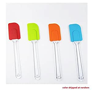 1 pc Multipurpose Silicone Cake Spatula Butter Mixer Baking Scraper Kitchen Utensil color shipped at random
