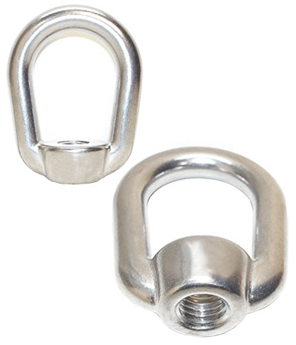 2 PC Stainless Steel SS 316 Eye Nut Tap Thread 1/2