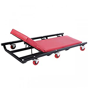 Mechanics Roller Creeper Seat Garage Tool Equipment Repair Work Under Your Car Or Truck With Metal Frame And Full Padding - House Deals