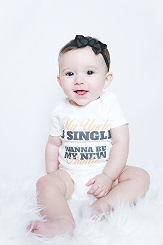 36e95d8cd My Uncle Is Single Wanna Be My New Auntie? Funny Baby Onesies (6-9 ...