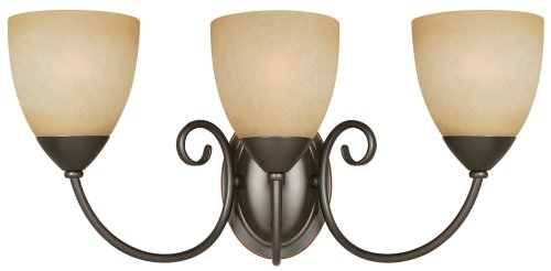Hardware House 543850 Berkshire 20-1/4-Inch by 8-3/4-Inch Bath/Wall Lighting Fixture, Classic Bronze