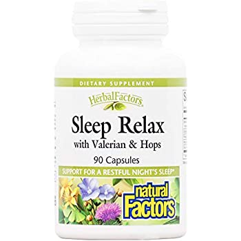 Amazon Com Stress Relax By Natural Factors Tranquil Sleep Sleep Aid With Melatonin 5 Htp And L Theanine Vegan And Gluten Free 90 Softgels