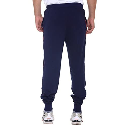 417coXd0ObL. SS500  - VIMAL JONNEY Men's Navy Blue Cotton Trackpants-D8NAVY-P