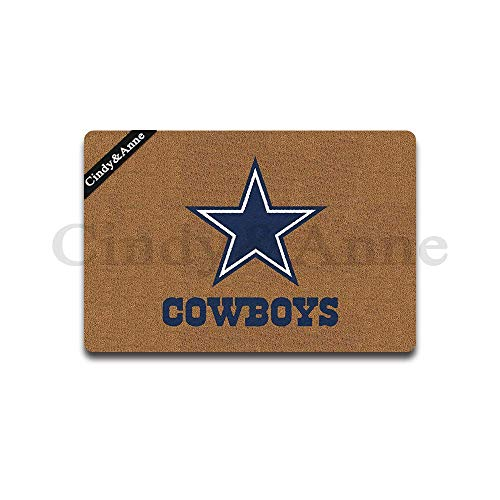 Cindy&Anne Dallas Cowboys Doormat Entrance Floor Mat Funny Doormat Door Mat Decorative Indoor Outdoor Doormat 23.6 by 15.7 Inch