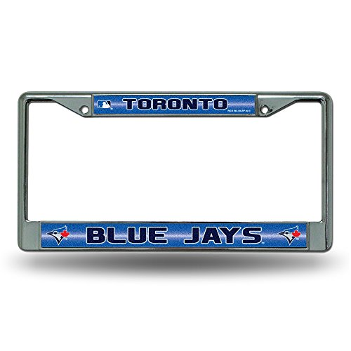 (Rico MLB Toronto Blue Jays Bling License Plate Frame, Chrome, 12 x 6-Inch)