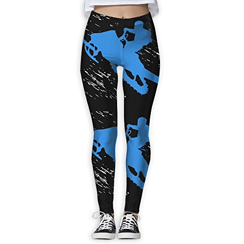 (Funny Snowmobile Riding Women's Stretchable Sports Running Yoga Workout Leggings Pants M)