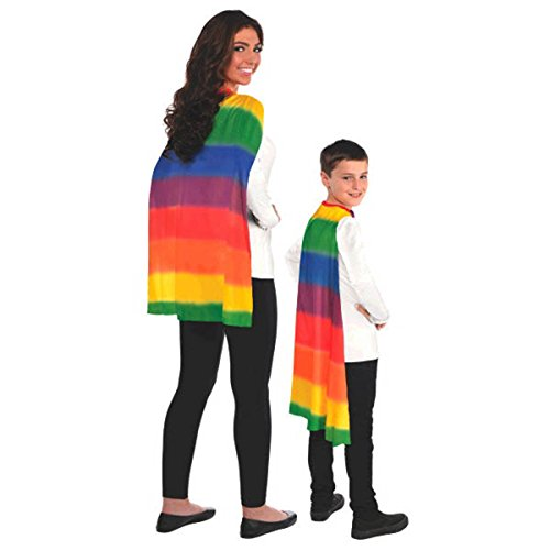 Amscan Party Perfect Team Spirit Superhero Cape, Multi Color, 13 x 8.5