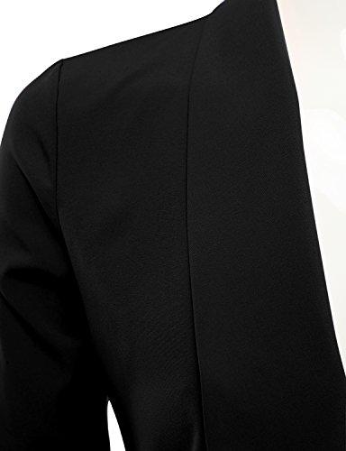 JJ-Perfection-Womens-Lightweight-Thin-Chiffon-Ruched-Sleeve-Open-Front-Blazer