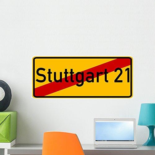 Wallmonkeys FOT-34250759-24 WM319430 Stuttgart 21 Peel and Stick Wall Decals (24 in W x 10 in H), ()