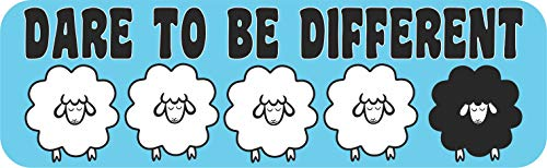 StickerTalk Sheep Dare to Be Different Magnet, 10 inches by 3 inches