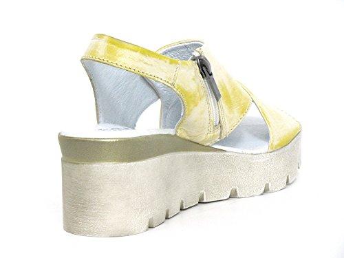 Women's Fashion Yellow gelb Sandals Simen Yellow 8fPqWdwfa