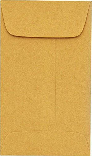 #6 Coin Envelopes (3 3/8 x 6) - 24lb. Brown Kraft - by Envelopes.com