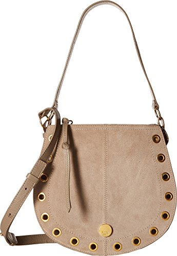 One Leather Chloe Suede See Grey Motty Women's Bag amp; Size by Kriss Small Hobo 4q00x7w