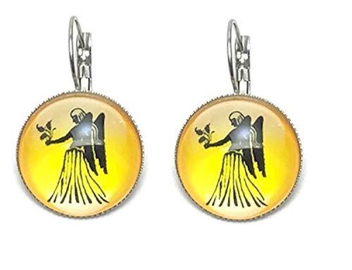 Fashion Trendy - Virgo Zodiac Sign Dangle Earrings For Women / AZEACRM06-VIR