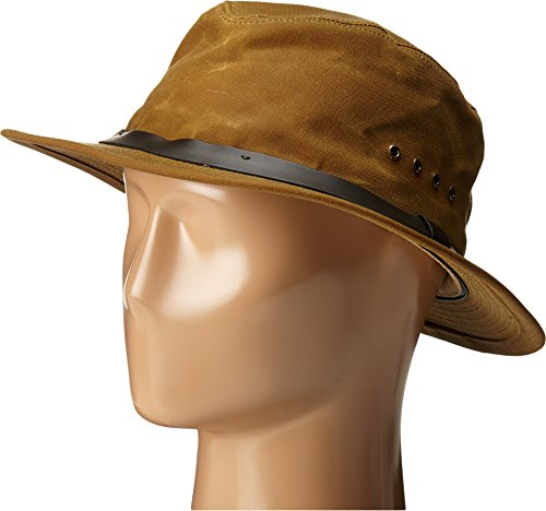 (Filson Unisex Tin Packer Hat Tan MD)