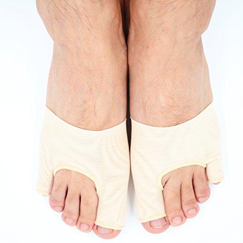 Dr.Koyama Bunion Aid Sleeves Big Toe Bunion Pain Relief Tailor's Bunion Regulator Bunion Toe Straightener Separator Pinky Toe Bunion Protector for High Heels-Large by Dr.Koyama