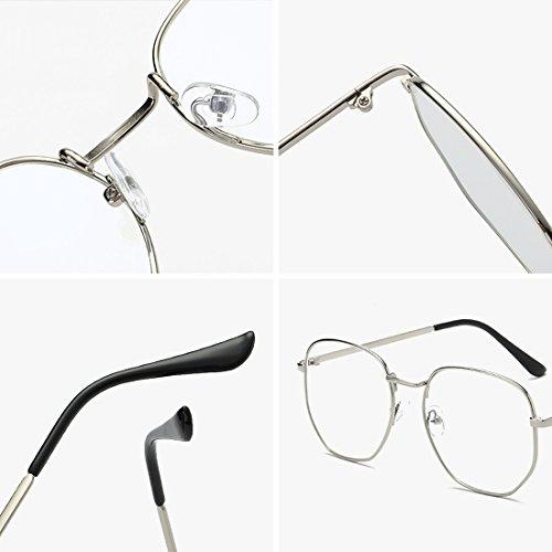 100 la moda Metal Plata para a Hombres Gafas círculo mujeres miopía Marco Súper De 400 Yefree y Gafas Gafas completo cxa4qH0611