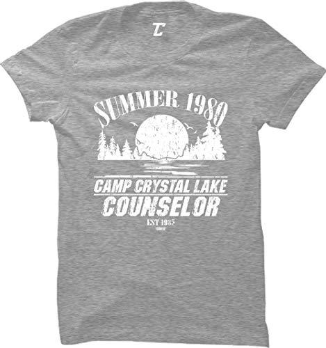 Summer 1980 Camp Crystal Lake Counselor Women's T-Shirt (Light Gray, X-Large)