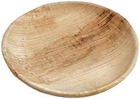 BIOZOYG DTW05409 plato de hoja de palma, 25 uds, redondo, Ø15 cm, biodegradable